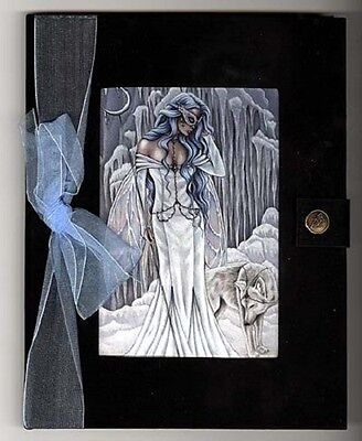 JOURNAL Tempest of Ice Fairy Goddess Black Velvet Blank Pages Jessica Galbreth