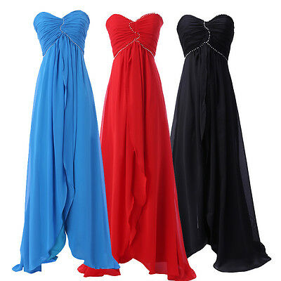 Long Bridesmaid Prom Dresses Cocktail Evening Long Maxi Ball Gown Formal Dress ~