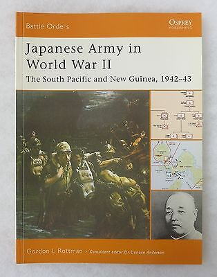 Osprey Battle Orders Book #14 Japanese Army Ww2 S. Pacific & New Guinea 1942-43