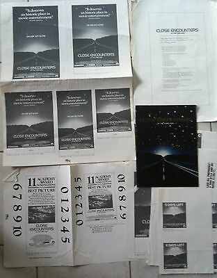 CLOSE ENCOUNTERS of the Third Kind (1977) Movie Theater Program WITH Press Kits
