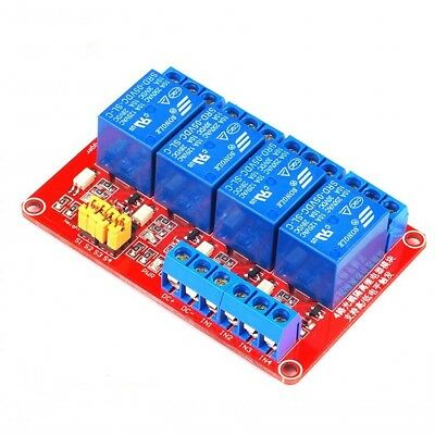 3.3V-5V Arduino / Raspberry PI 4-Channel Optic-Isolated Relay Module H/L Trigger