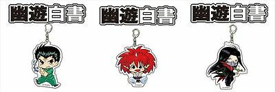 Yu Yu Hakusho Big Acrylic Key Ring Yusuke or Jin or Karasu Japan Anime[71]
