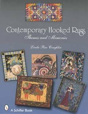 Contemporary Hooked Rugs book Antique Vintage Primitive