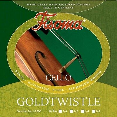 Fisoma Goldtwistle Violoncelle Cordes LOT en 5 tailles, violoncelle Strings Lot