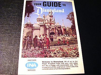 1967 Your Guide to Disneyland INA Guide Booklet w/Map Disneyland & Park Info