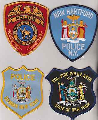 Suffolk Co, Newark, New Hartford Police & NY Fire Police Association patches