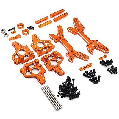 Orange aluminium endurance upgrade set for HPI Sprint 2 1:10 RC car.