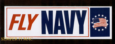 2  Fly Us Naval Aviation Bumper Sticker Zap Navy Pin Up 100Th Anniversary Nr Bm7