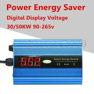 30/50KW Digital Display Voltage Power Energy Saver Box Saving Up to 35% 90-265V