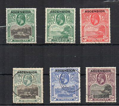 Ascension 1922 St Helena opt values to 8d FU CDS