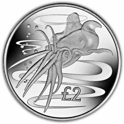 South Georgia 2017 Colossal Squid Unc. CuNi Coin