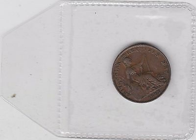 1823 George Iv Copper Farthing In Near Very Fine Condition