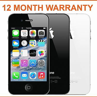 Apple iPhone 4 8gb 16gb 32gb Black White Factory Unlocked Smartphone