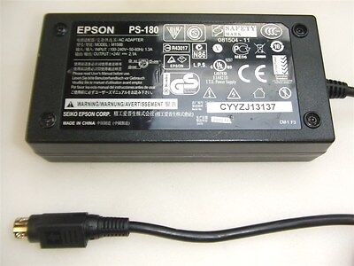 Power Supply Epson PS-180 Adapter PS 24V 2.1A AC/DC Cable 3-Pin For Printer