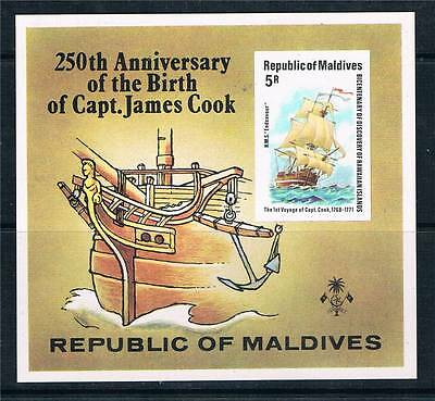 Maldive Is 1978 Capt.James Cook MS SG 769 MNH