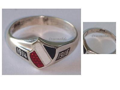 Germany WW1 Ring Patriotic Prussian Flag Trench Art WWI 1914 1916 German Prussia