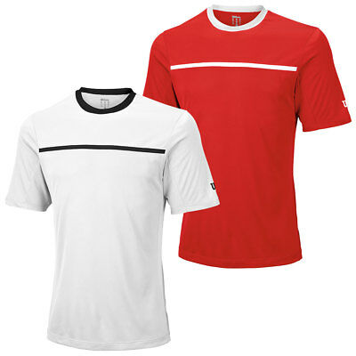 Wilson Sport Mens Team Crew T Shirt Tennis Short Sleeve Tee