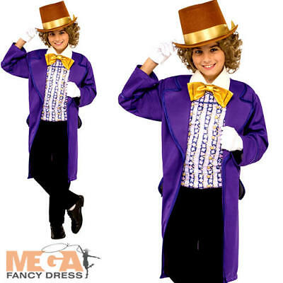Willy Wonka Boys Fancy Dress Chocolate Factory Roald Dahl Book Day Kids Costume