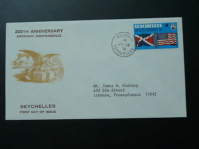 American Independance FDC Seychelles 62690