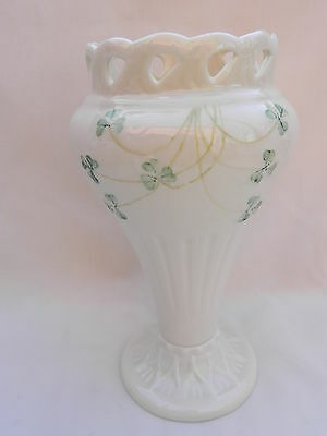 Belleek VASE 19cm Tall.Excellent.