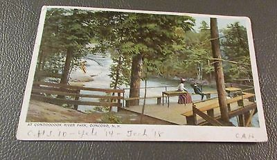 Old Postcard  CONCORD, NEW HAMPSHIRE   {CONTOOCOOK RIVER PARK-THE LOOKOUT-1906}