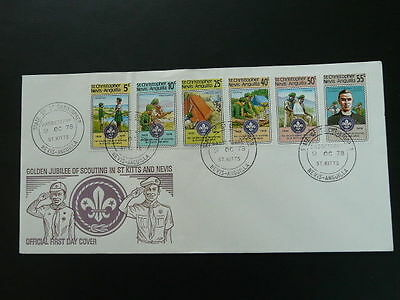 boy scout scouting jubilee 1978 FDC St Kitts and Nevis 54666