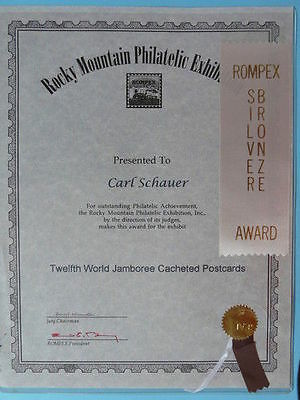 award ROMPEX exhibit for scout collection 2738