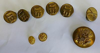 US Military WWII Lot US Pins Waterbury Button Junk Drawer