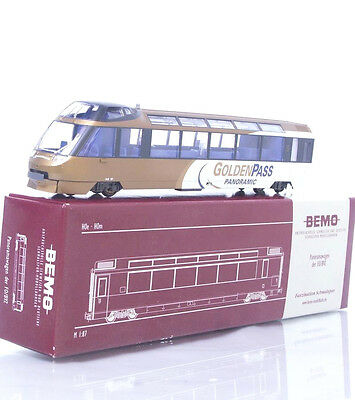 "MINT BEMO 3288 313 HOm ""GOLDEN PASS"" PANORAMA TAIL CAR STEUERWAGEN MOB Arst 151"