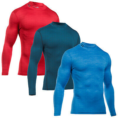 Under Armour Mens Coldgear Armour Twist Mock Top - New Compression Fit Baselayer