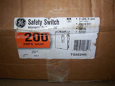 New GE TG3224R 200 Amp 240v Fused 3R Single Phase Safety Switch Disconnect