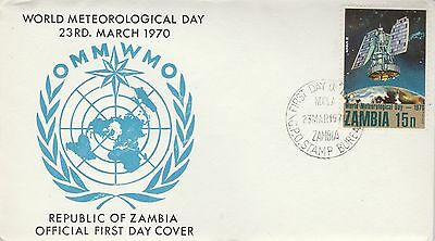 1970 Zambia World Meteorological Day First Day Cover Stamp Bureau PMK Ref: MT264