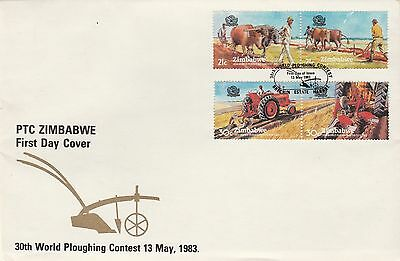 1983 Zimbabwe World Ploughing Contest First Day Cover Special PMK Ref: MT267