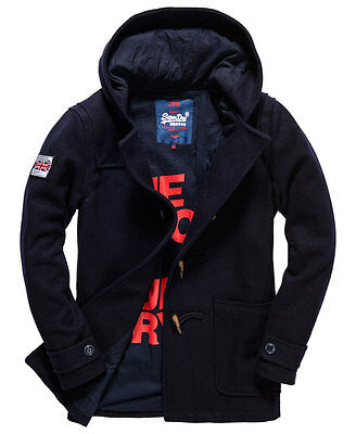 New Mens Superdry Rookie Duffle Coat Navy