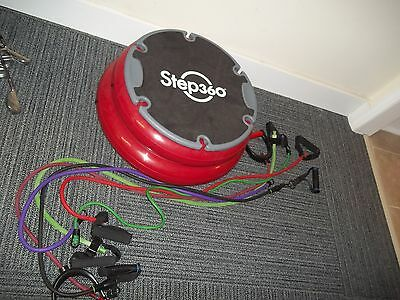 Step 360 Balance Trainer / Aerobic Step  & 6 Resistance Bands - Used