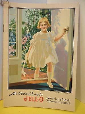 Antique 1917 Jell-o Advertising Recipe Booklet NEAR MINT Rose O'Neill