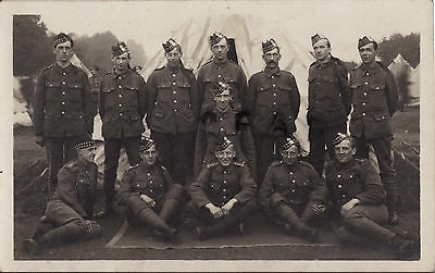WW1 Soldier group 4th Royal Scots Fusiliers in Tented Camp