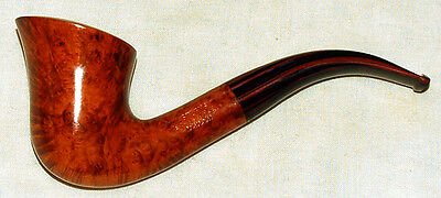 1990 Astley Bent Briar Pipe + Hand Cut Cumberland M/p  New Old Stock