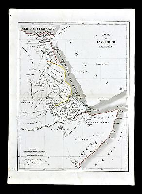 1830 Langlois Atlas Map - Egypt Nubia Abyssinia Cairo Gizeh Alexandria Africa