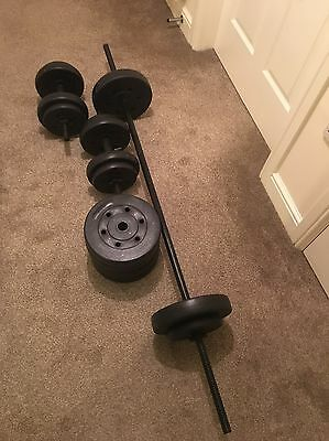 50KG Dumbells And Weights Set (Home Gym)