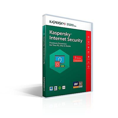 Kaspersky Internet Security 2017 Multi-Devices 3 (PC, Mac, Android, iOS) 1-Year