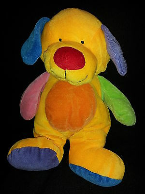 Ty Pluffies Puppy Dog Primary Colorful Plush Rainbow Stuffed Animal Lovey  Toy