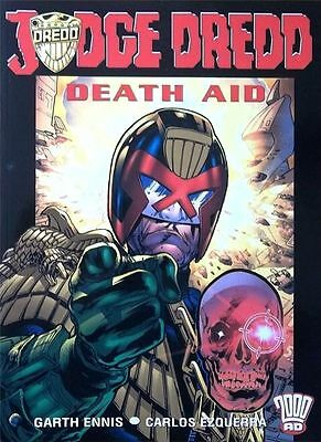 2000AD ft JUDGE DREDD in DEATH AID - GRAPHIC NOVEL - EXCELLENT CONDITION