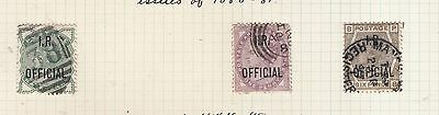 I.r. Officials 1880-1881 Used 1/2D To 6D