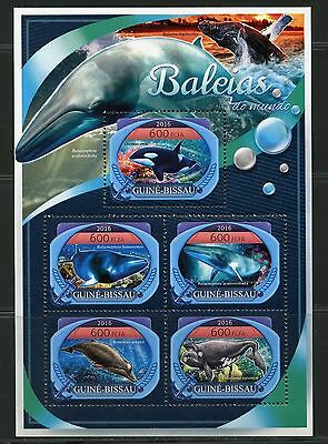 Guinea Bissau  2017 Whales   Of The World  Sheet Mint