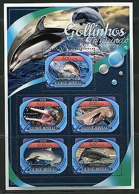 Guinea Bissau  2017 Dolphins  Of The World Sheet Mint