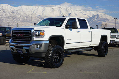 2015 GMC Sierra 3500 SLT Z71 GMC CREW CAB SLT 4X4 DURAMAX DIESEL CUSTOM NEW LIFT WHEELS TIRES LEATHER NAV