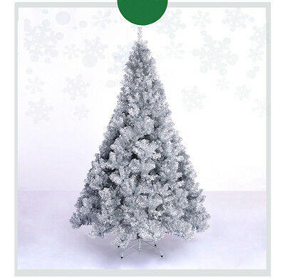 * Xmas Christmas Celebrate Gift Height 2.4m Silver Christmas Tree Decoration