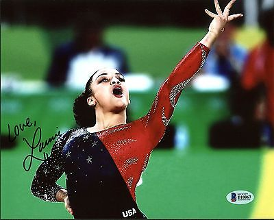 Laurie Hernandez 2016 Rio Olympics Authentic Signed 8X10 Photo BAS #B18067
