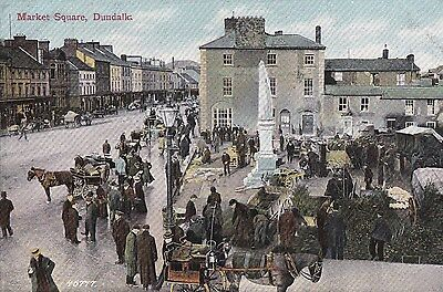 e irish postcard ireland louth market square dundalk